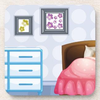A girl sleeping coasters
