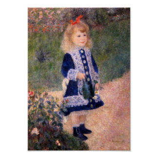 A Girl With A Watering Can by Pierre Renoir Poster