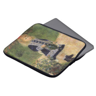A Girl with Watering Can by Pierre Renoir Laptop Sleeve