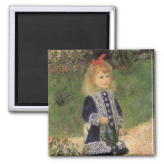 A Girl with Watering Can by Pierre Renoir Magnet