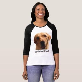 A Girl's Best Friend | Cute Yellow Lab T-Shirt