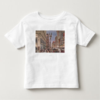 A Glance at Busy Broadway T-shirts