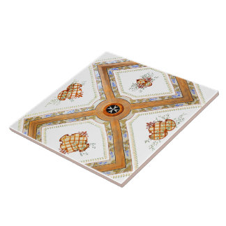 A Glass Ceiling Large Square Tile
