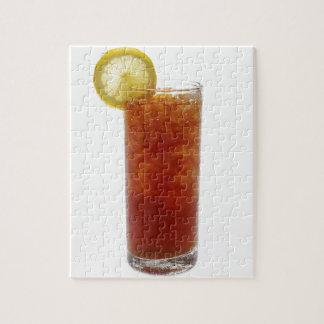 A Glass of Iced Tea Jigsaw Puzzle