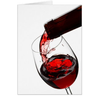 A Glass of Red Wine Card