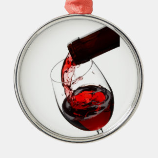 A Glass of Red Wine Christmas Ornament