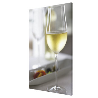 A glass of white wine 2 canvas print