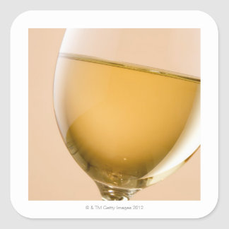 A glass of white wine square sticker