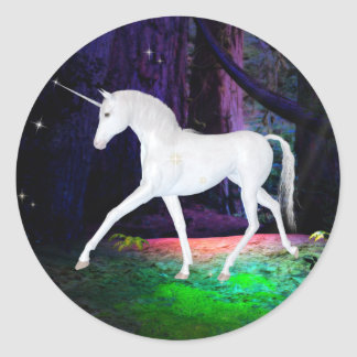 A Glimpse of a Unicorn - Fantasy Stickers