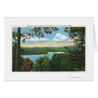 A Glimpse of Lake Garfield Greeting Card