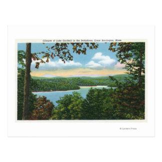 A Glimpse of Lake Garfield Postcard