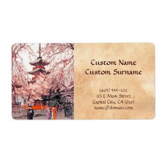 A Glimpse of Ueno Park Hiroshi Yoshida art Shipping Label
