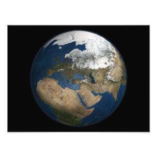 A global view over Europe and Scandinavia Photo Print