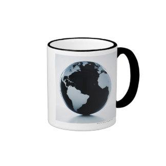 A globe 3 ringer mug