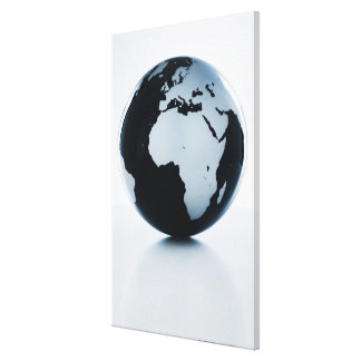 A globe canvas print