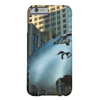 A globe with a stainless steel North America Barely There iPhone 6 Case