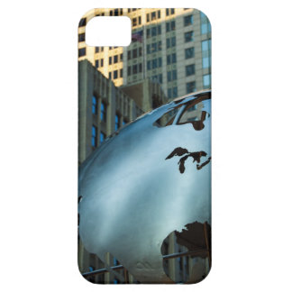 A globe with a stainless steel North America iPhone 5 Cases