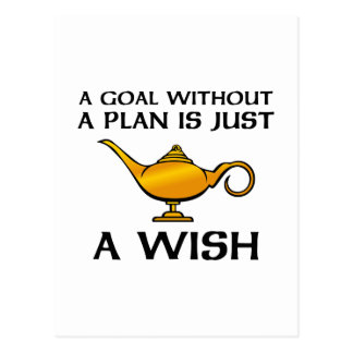 A Goal Without A Plan Postcard