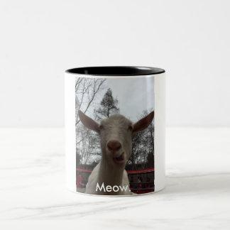A Goat Says Meow. Two-Tone Mug