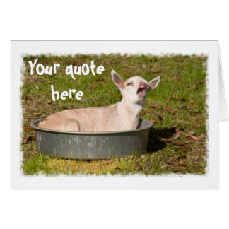 A Goat's View Greeting Card