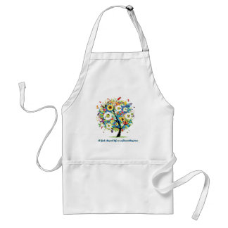 A God-Shaped Life is A Flourishing Tree Standard Apron