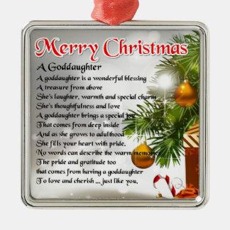 A goddaughter poem - Christmas design Christmas Ornament