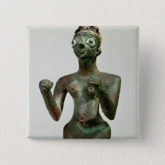 A Goddess of Mari, Early Dynastic Period, c.25th-2 15 Cm Square Badge