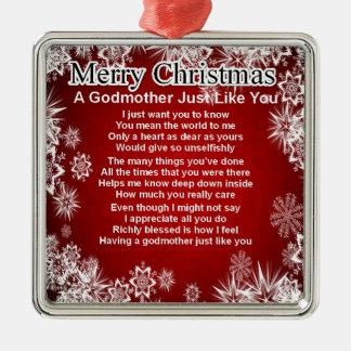 A godmother poem - christmas design christmas ornament