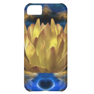 A gold lotus flower and reflections iPhone 5C case