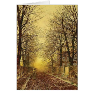 A Golden Country Road by John Atkinson Grimshaw Card