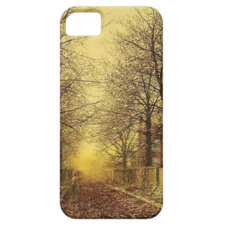 A Golden Country Road by John Atkinson Grimshaw iPhone 5 Covers