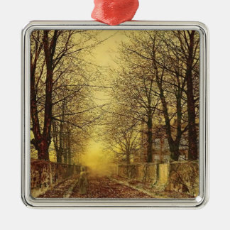 A Golden Country Road by John Atkinson Grimshaw Christmas Tree Ornament