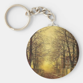 A Golden Country Road by John Atkinson Grimshaw Keychain