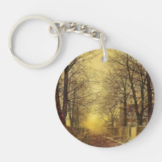 A Golden Country Road by John Atkinson Grimshaw Key Chains