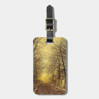 A Golden Country Road by John Atkinson Grimshaw Bag Tag