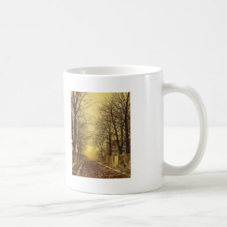 A Golden Country Road by John Atkinson Grimshaw Coffee Mugs