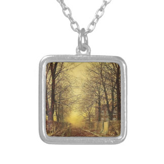 A Golden Country Road by John Atkinson Grimshaw Custom Necklace