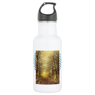 A Golden Country Road by John Atkinson Grimshaw 532 Ml Water Bottle