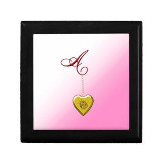 A Golden Heart Locket Gift Boxes