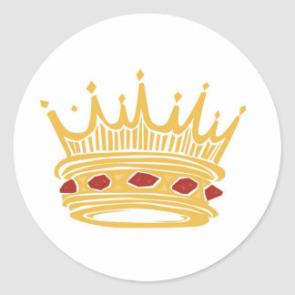 A Golden King s Crown With Jewels Stickers