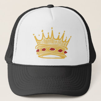 A Golden King's Crown With Jewels Trucker Hat