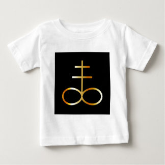 A golden Leviathan Cross or Sulfur symbol Baby T-Shirt