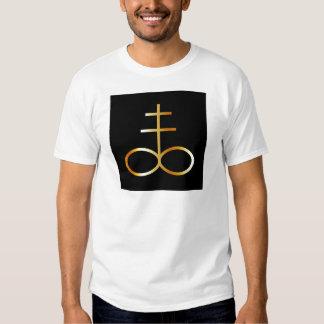 A golden Leviathan Cross or Sulfur symbol Shirts