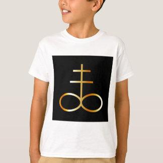 A golden Leviathan Cross or Sulfur symbol T-Shirt