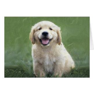 A Golden Puppy Card