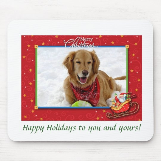 A Golden's Christmas Greeting Mouse Mat