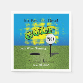 A Golfer Birthday Party Disposable Napkin