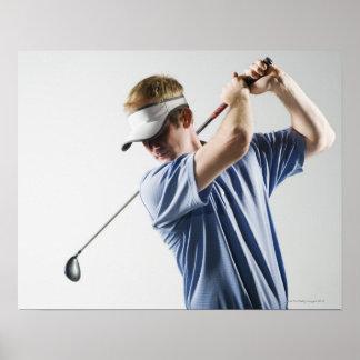 A golfer poster