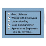 A Good Boss Boss's Day Card