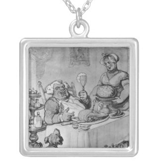 A Good Meal, Silver Plated Necklace